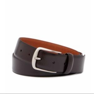 Boconi brown all leather belt NWT size 36